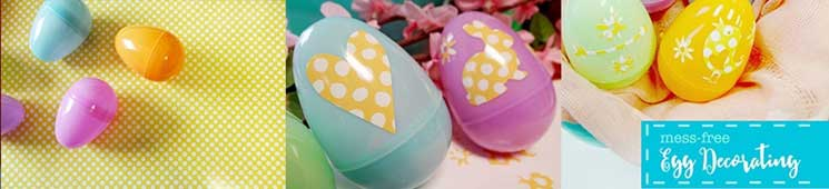 Mess-Free Egg Decorating (with cut file!)