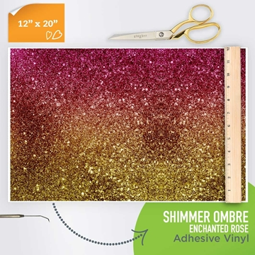 Picture of Happy Crafters Pattern Adhesive Vinyl - Shimmer Ombre - Enchanted Rose