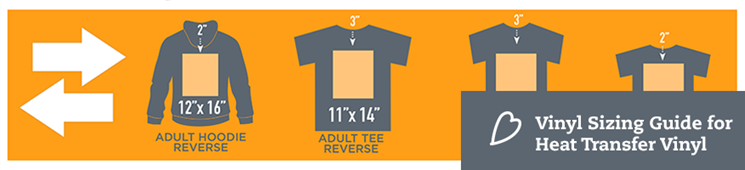 Great HTV Sizing Guide For Shirts