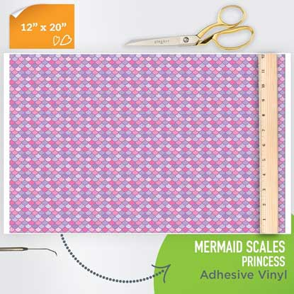Picture of Happy Face Pattern Adhesive Vinyl - Mermaid Scales - Princess