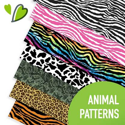 Picture of Happy Face Animal Print Heat Transfer Vinyl