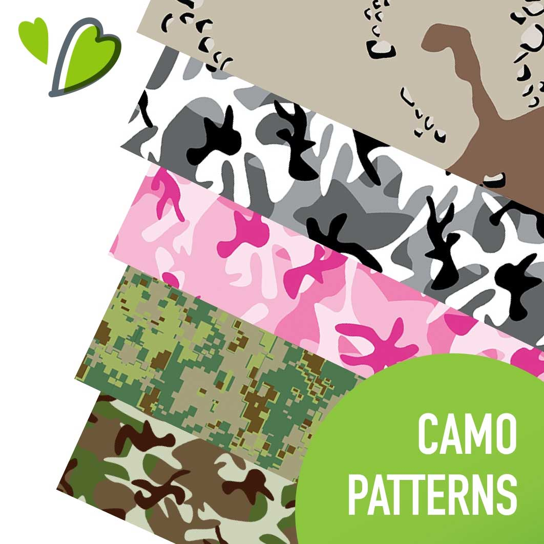 happy face camo print heat transfer vinyl happy crafters. Black Bedroom Furniture Sets. Home Design Ideas