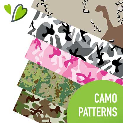 Picture of Happy Face Camo Heat Transfer Vinyl
