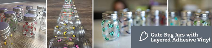 Applying Adhesive Vinyl to Mason Jars