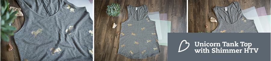 Using Shimmer HTV for an All Over Tank Top