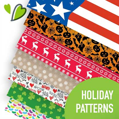 Picture of Happy Crafters Holiday Pattern Adhesive Vinyl