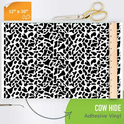 Picture of Happy Face Pattern Adhesive Vinyl - Cow Hide
