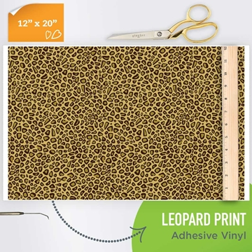 Picture of Happy Crafters Pattern Adhesive Vinyl - Leopard Print