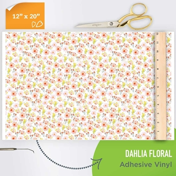 Picture of Happy Crafters Pattern Adhesive Vinyl - Dahlia Floral