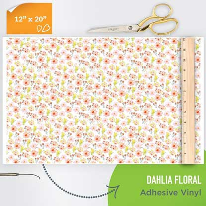 Picture of Happy Face Pattern Adhesive Vinyl - Dahlia Floral