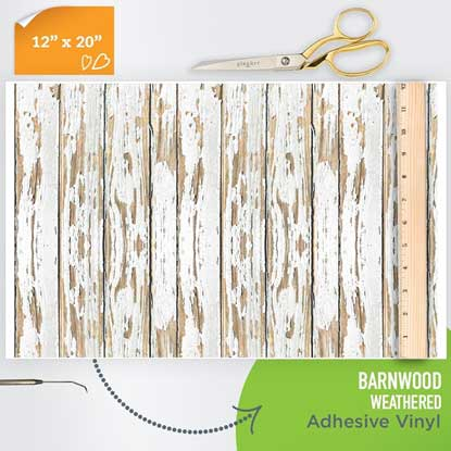 Picture of Happy Crafters Pattern Adhesive Vinyl - Barnwood - Weathered