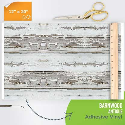 Picture of Happy Crafters Pattern Adhesive Vinyl - Barnwood - Antique