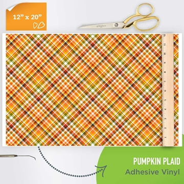 Picture of Happy Crafters Pattern Adhesive Vinyl - Pumpkin Plaid
