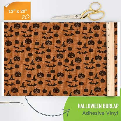 Picture of Happy Crafters Pattern Adhesive Vinyl - Halloween Burlap