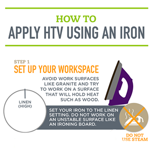 Applying HTV with a Household Iron