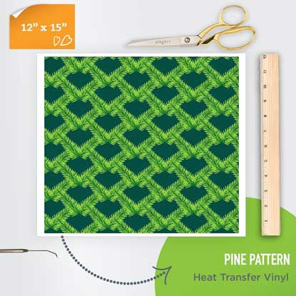 Picture of Happy Crafters Pattern Heat Transfer Vinyl - Pine Pattern