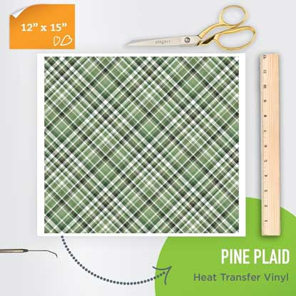 Picture of Happy Crafters Pattern Heat Transfer Vinyl - Pine Plaid
