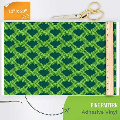 Picture of Happy Crafters Pattern Adhesive Vinyl - Pine Pattern