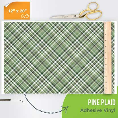 Picture of Happy Crafters Pattern Adhesive Vinyl - Pine Plaid