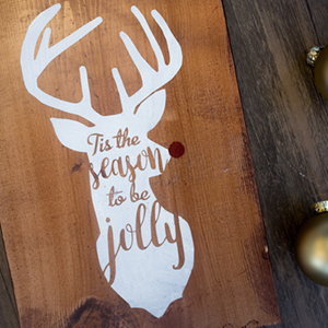 Using Vinyl as a Stencil | Wooden Christmas Sign
