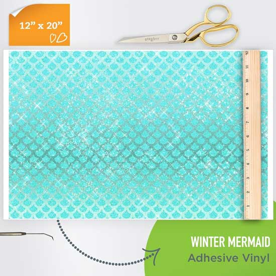 Picture of Happy Crafters Pattern Adhesive Vinyl - Winter Mermaid