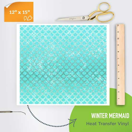 Picture of Happy Crafters Pattern Heat Transfer Vinyl - Winter  Mermaid