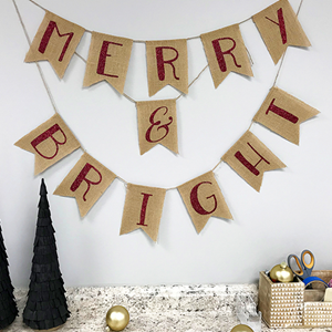Creating a Christmas Banner with HTV & a CriCut
