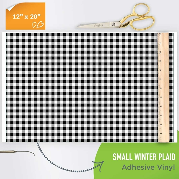 Picture of Happy Crafters Pattern Adhesive Vinyl - Small Winter Plaid