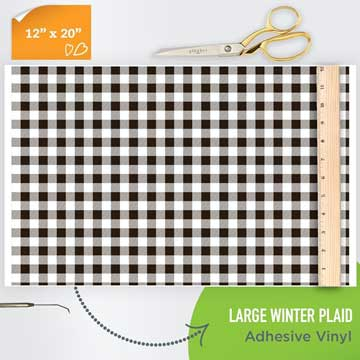 Picture of Happy Face Pattern Adhesive Vinyl - Winter Plaid