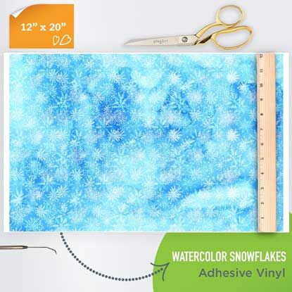 Picture of Happy Face Pattern Adhesive Vinyl - Watercolor Snowflakes
