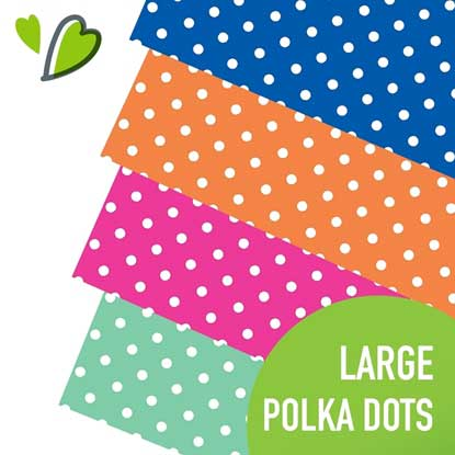 Picture of Happy Face Large Polka Dots Adhesive Vinyl