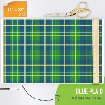 Picture of Happy Crafters Pattern Adhesive Vinyl - Scottish Plaid