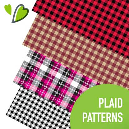Picture of Happy Face Plaid Adhesive Vinyl