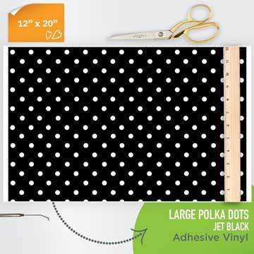 Picture of Happy Face Pattern Adhesive Vinyl - Polka Dot Jet Black Large