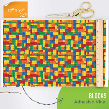 Picture of Happy Crafters Pattern Adhesive Vinyl - Blocks