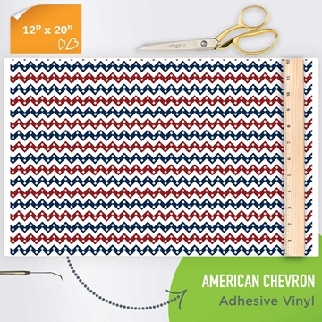 Picture of Happy Crafters Pattern Adhesive Vinyl - American Chevron