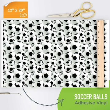 Picture of Happy Crafters Pattern Adhesive Vinyl - 3-D Soccer Balls