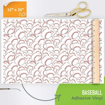 Picture of Happy Crafters Pattern Adhesive Vinyl - Baseball
