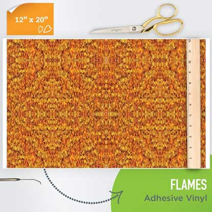 Picture of Happy Face Pattern Adhesive Vinyl - Flame