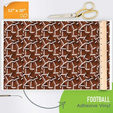 Picture of Happy Crafters Pattern Adhesive Vinyl - Football