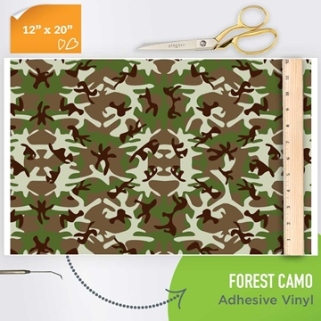 Picture of Happy Crafters Pattern Adhesive Vinyl - Forest Camo
