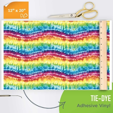 Picture of Happy Crafters Pattern Adhesive Vinyl - Tie-Dye