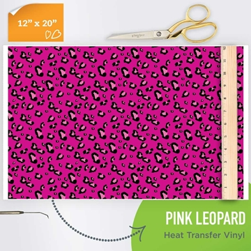 Picture of Happy Crafters Pattern HTV - Pink Leopard