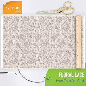 Picture of Happy Crafters Pattern HTV - Floral Lace