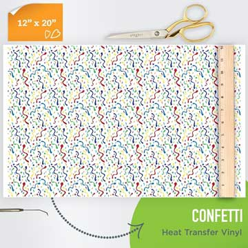Picture of Happy Crafters Pattern HTV - Party Confetti