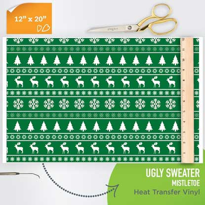 Picture of Happy Crafters Pattern HTV - Ugly Sweater Mistletoe