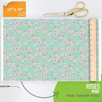 Picture of Happy Crafters Pattern HTV - Mint Roses