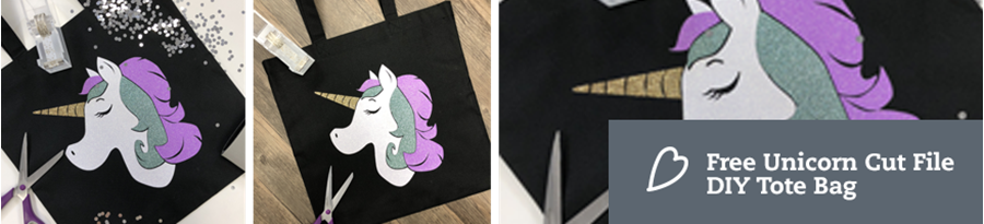 Free Unicorn Cut File | HTV Tote Tutorial