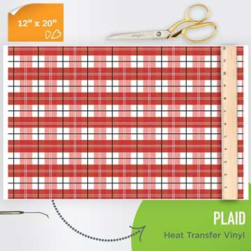 Picture of Happy Crafters Pattern HTV - Red Plaid