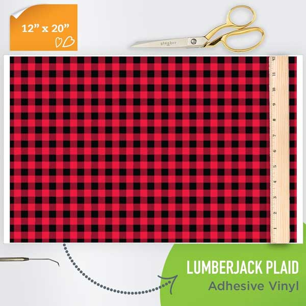 Picture of Happy Crafters Pattern Adhesive Vinyl - Lumberjack